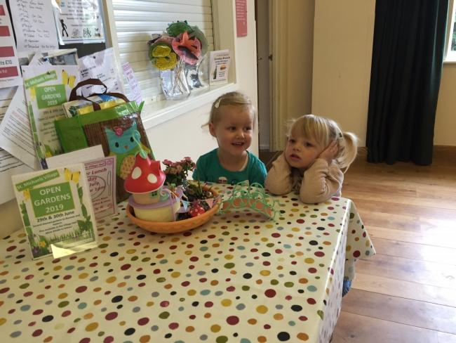 Issy and Penny get ready for the Open Gardens weekend