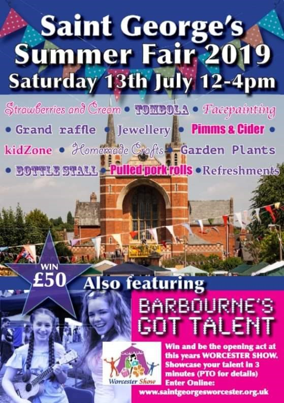 St. George's Summer Fair 2019 featuring Barbourne's Got Talent