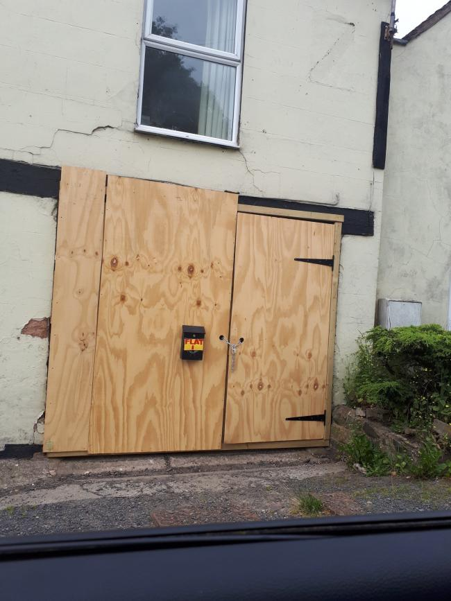 One person was evicted following the police raid. Photo: @LudlowCops