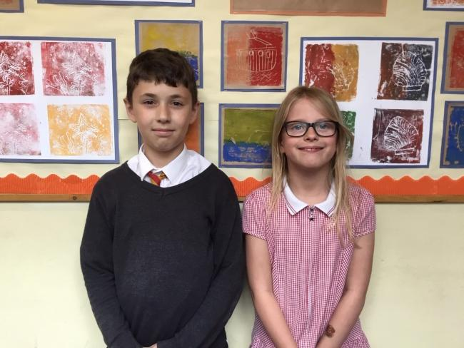 St Thomas Cantilupe Primary School pupils Andrei Gavrilas and Megan Barnett were overall winners at Hereford Schools Maths Day.