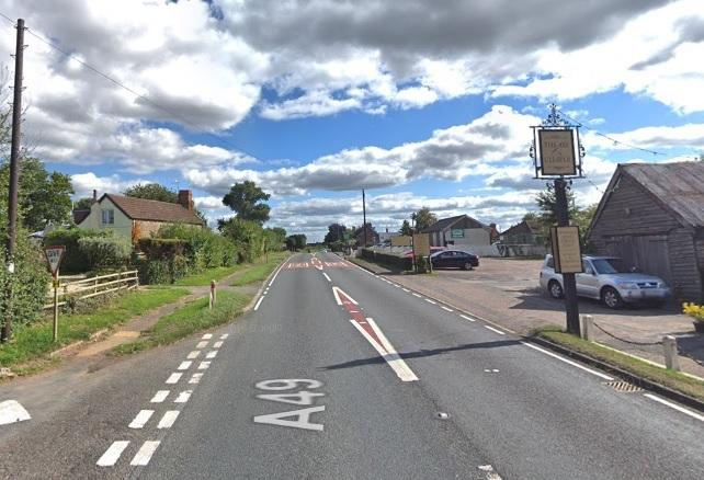 The A49 has been blocked by the crash, Photo: Google