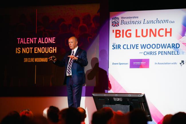 EVENT: Sir Clive Woodward addressing the audience at the 'Big Lunch'
