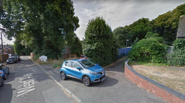 The land where six new flats could be built in West Avenue, Redditch. Pic Google StreetView