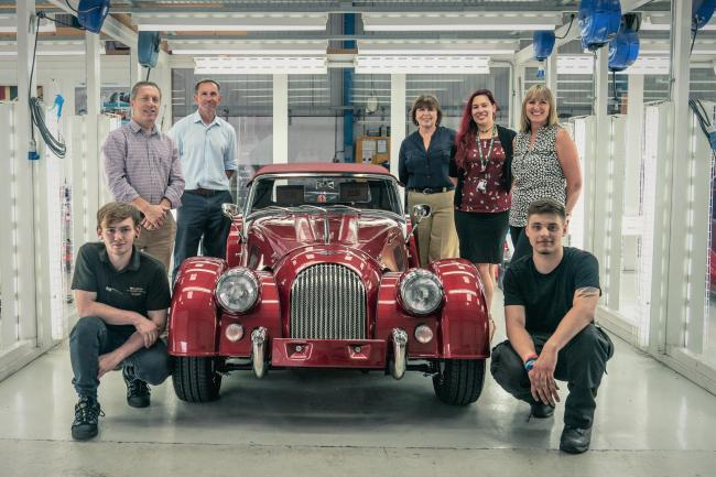 SUCCESS: The team from Morgan is celebrating after taking on two apprentices full-time