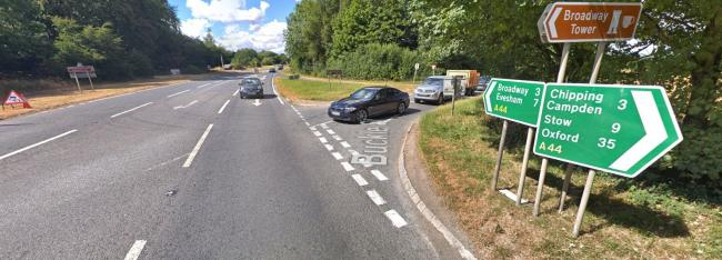 SCENE: Two motorcycles and a car crashed at junction of A44 and Buckle Street