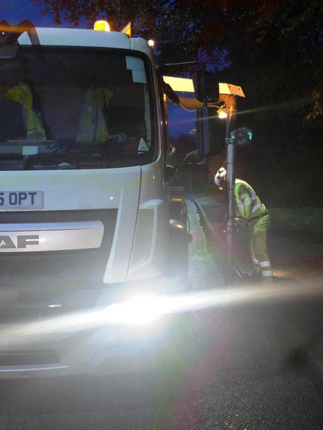 Gully cleaners in action. Picture: Herefordshire Council/Balfour Beatty Living Places