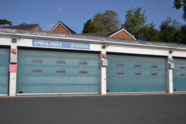 The non-emergency ambulance station in Stourport Road, Kidderminster