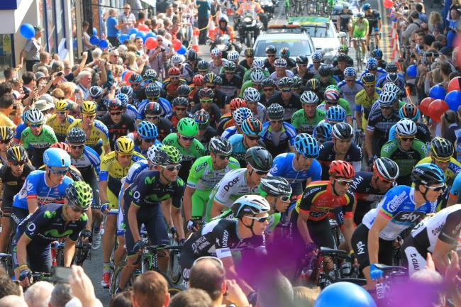 CYCLING: The Tour of Britain in Malvern, 2014