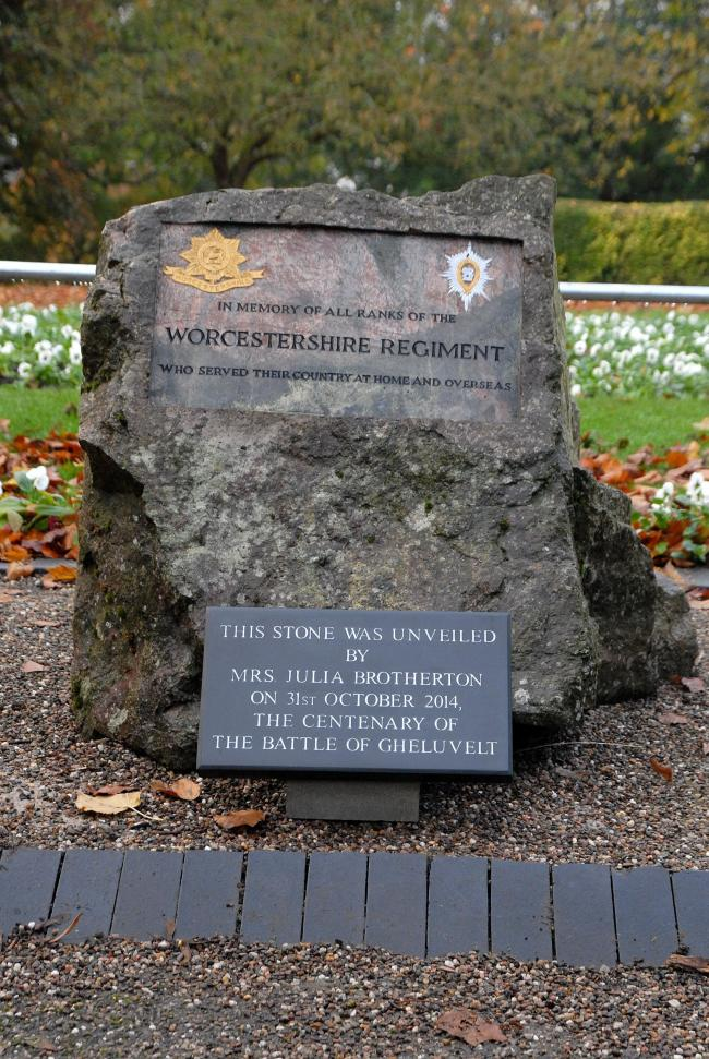 MEMORIAL: The memorial at Gheluvelt Park..