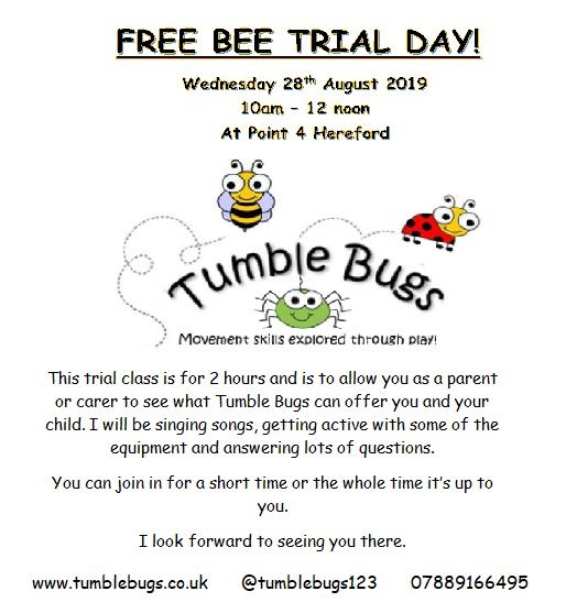 Tumble Bugs trial day