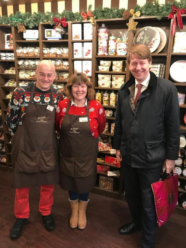 SHOPS: Mark and Michelle Rasdall from Mr Simm's Olde Sweet Shoppe with Robin Walker
