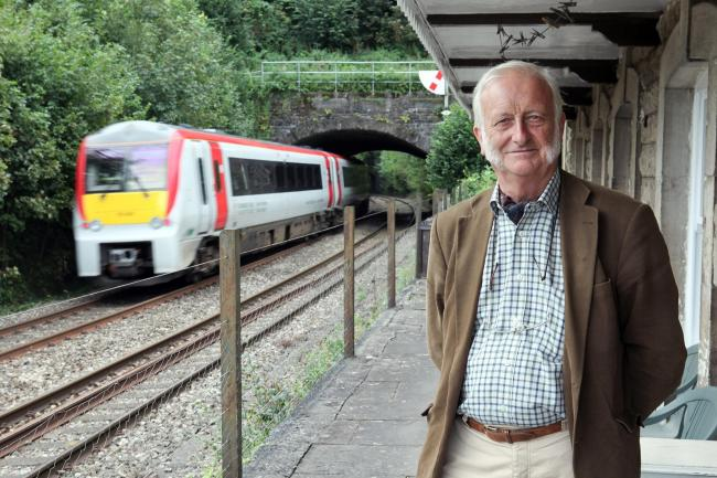 Ewyas Harold parish councillor Peter Jinman at Pontrilas railway station, which he is hoping could reopen