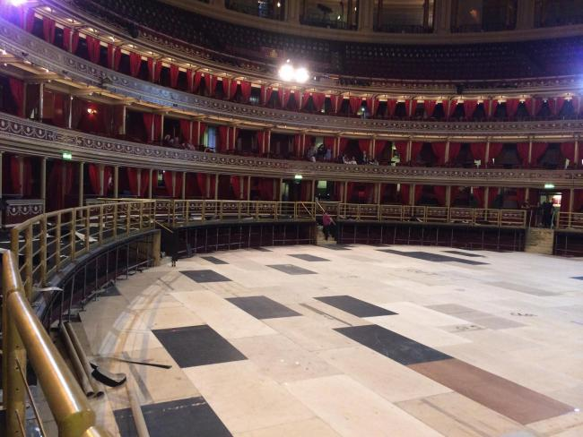 The Albert Hall, before the team from Wyvern Flooring got to work.