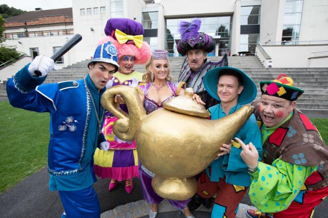 Stroke of genie-us: The stars of Aladdin are all set for this year's Malvern Theatres panto.
