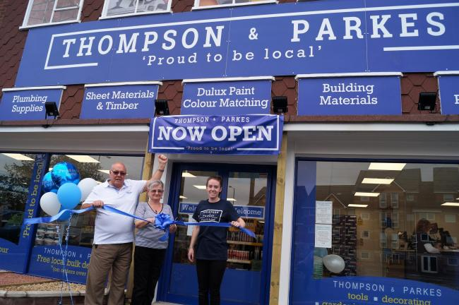 L to R: Thompson & Parkes Directors, Gary Wells, Jean Morris and Stourport Manager Nikki Shipton.