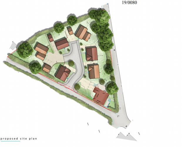 Ledbury Reporter: Proposed site plan. PIC: Zebra Architects