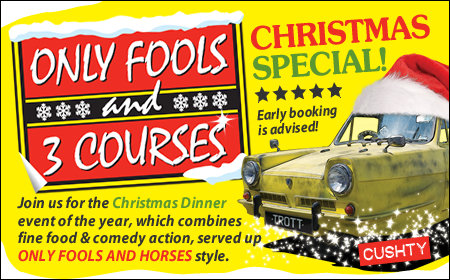 Only Fools and 3 Courses XMAS Special Dinner Bewdley 19/12/2019