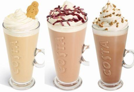 Costa Coffee have dropped three of their festive favourites early ahead of the full Christmas menu launch