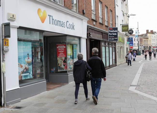 All 555 Thomas Cook stores, including one in Hereford, are set to be bought by Hays Travel. Photo: Rob Davies