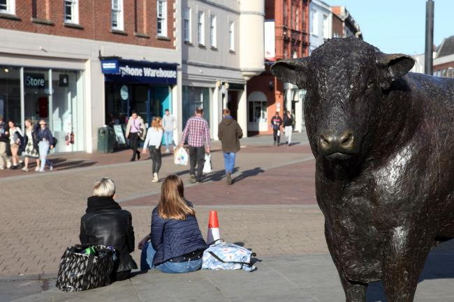 New figures from Hereford Business Improvement District show footfall in Hereford was significantly higher last month compared with September 2019. Photo: Rob Davies