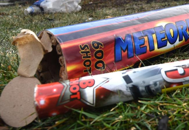 A firework or airgun was aimed at a woman's window in Hereford