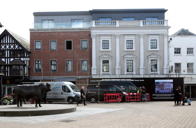 Alban House, High Town, Hereford, has been transformed in luxury flats after the devastating High Town fire in October 2010. Picture: Rob Davies