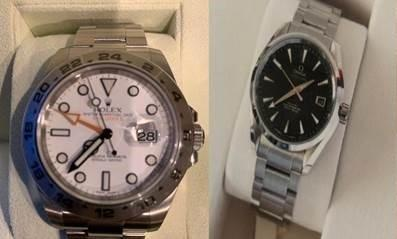 Watches stolen from a house in Kings Acre Road, Hereford. Picture: West Mercia Police