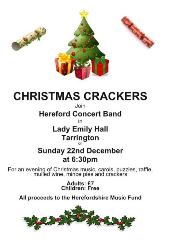 Tarrington Christmas Crackers Concert - Hereford Concert Band