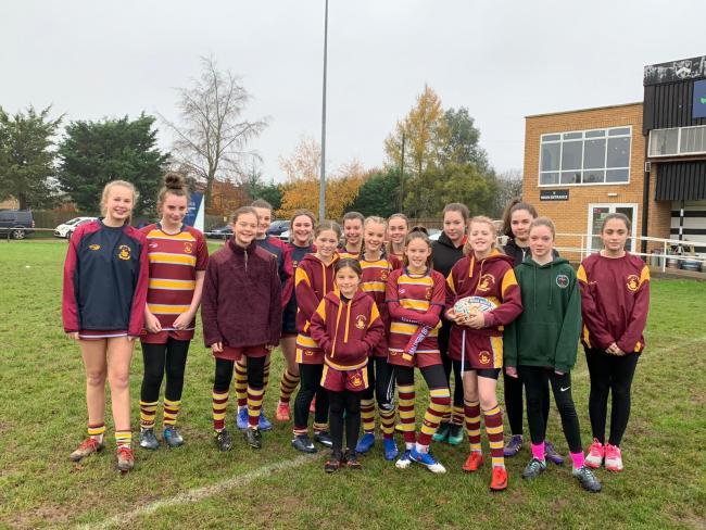 Malvern's girls played at their first touch rugby tournament. Picture: MALVERN RUGBY CLUB
