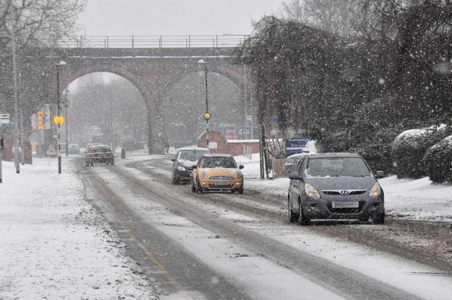 Motorists and pedestrians battle with more snow on Hylton Road, Worcester, last year