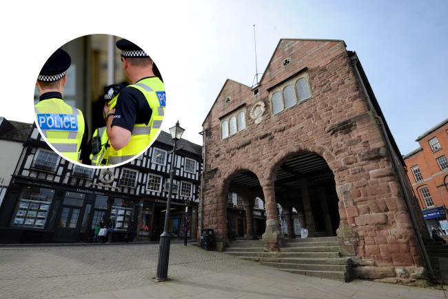 Ross on Wye. Police officers.