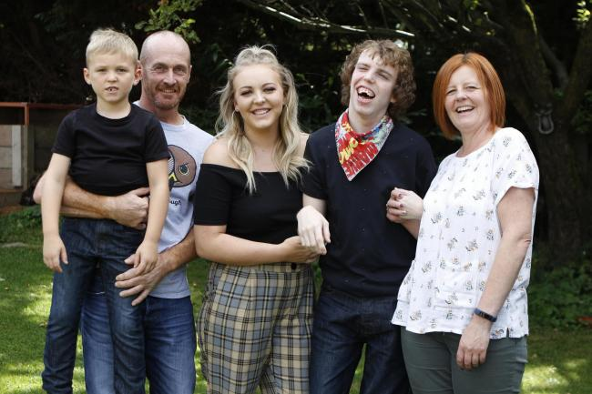 Jack (second right) has not lived in his home county for eight years due to his disability. Picture: Andrew Higgins/Thousand Word Media