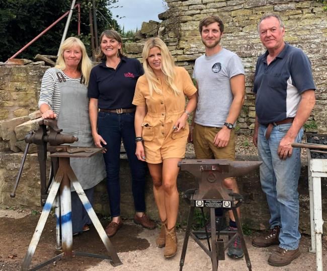 Staff from The Woodee, manufacturers of fire pits and artisan tools based in Dorstone, featured on the BBC One show Countryfile
