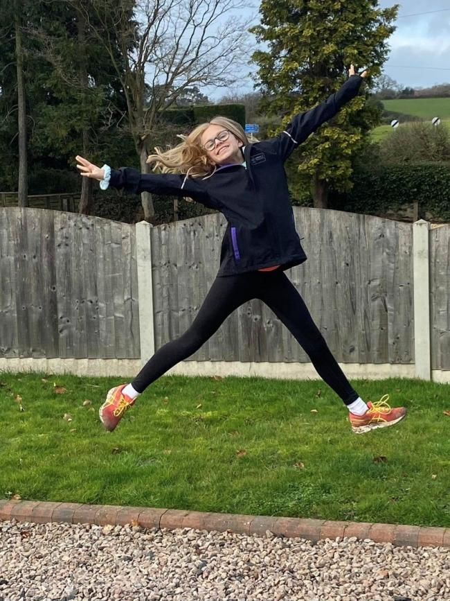 Winterfold School student Kasey Newton is running a mile each day in January for the Cystic Fibrosis Trust