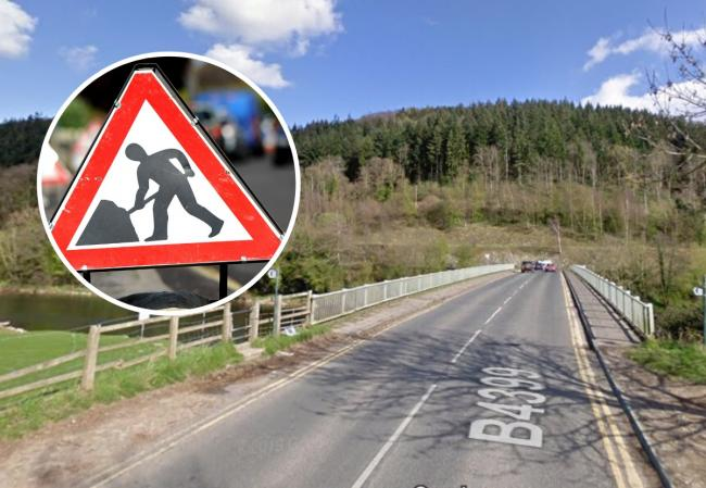 Three-way traffic lights will be in place on Holme Lacy Bridge from tomorrow (Tuesday) morning. Main picture: Google