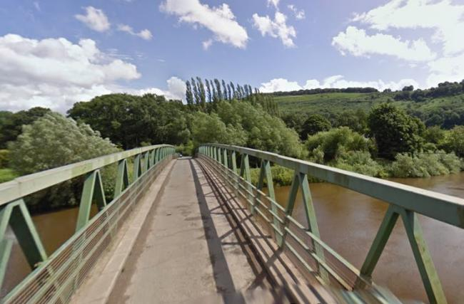 Firefighters were called to the crash at Huntsham Bridge. Picture: Google