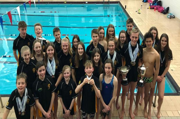 Successful competitors at the Worcester County Championships. Picture: LEDBURY AND MALVERN SWIMMING CLUB