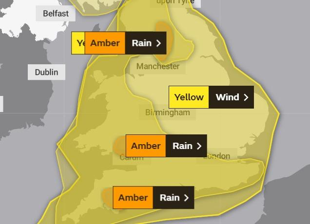 Severe weather conditions are expected this weekend. Photo: Met Office