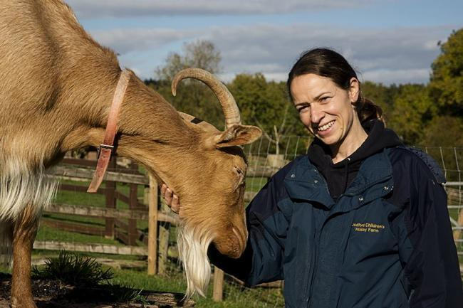Kelly Broadfield at Dodford Children's Farm.