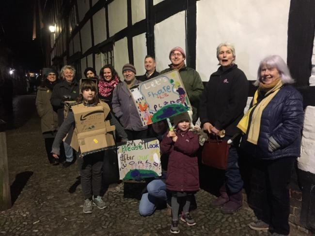 PRESENT: Ledbury Extinction Rebellion group, on the night of the meeting