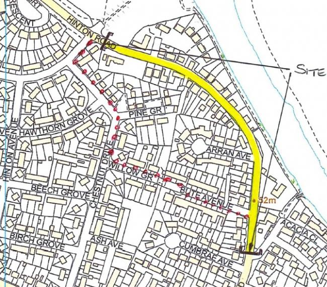 Hinton Road will be closed until Saturday. Picture: Herefordshire Council/Balfour Beatty Living Places