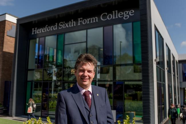Principal Peter Cooper said Hereford Sixth Form College does not need to take action over coronavirus, despite some students returning from a skiing trip to northern Italy