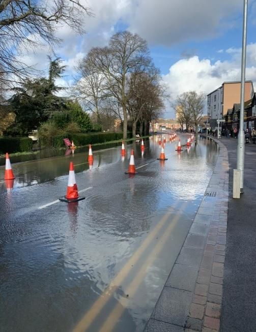 Flooding in Worcester