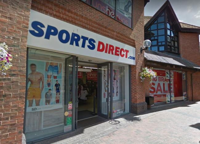 Hereford's Sports Direct store. Photo: Google