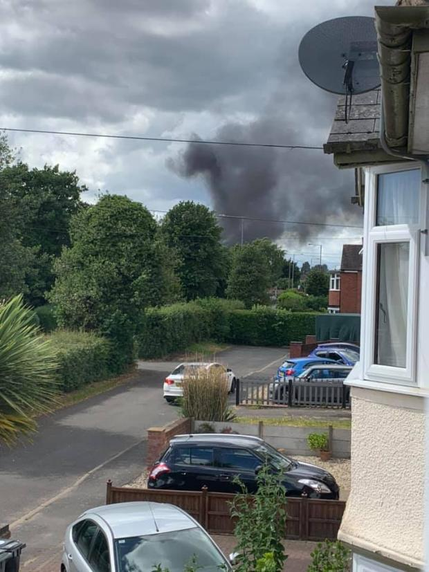 Ledbury Reporter: Clouds of smoke in Stourport. Photo by Kerry Edwards