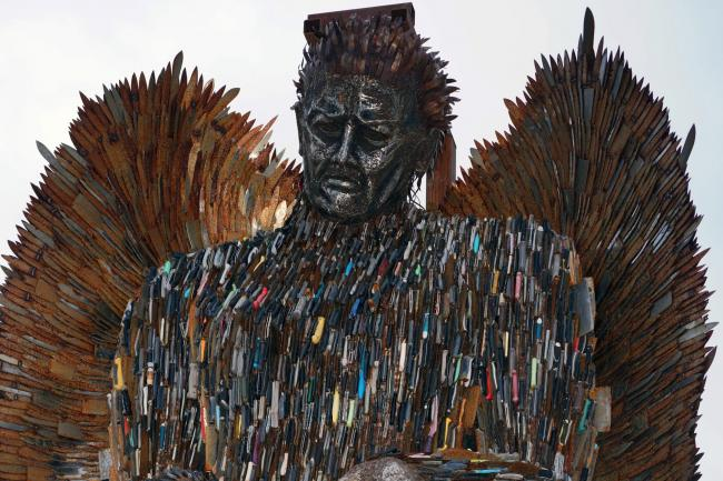 The 'Knife Angel' sculpture. Photo: Owen Humphreys/PA Wire