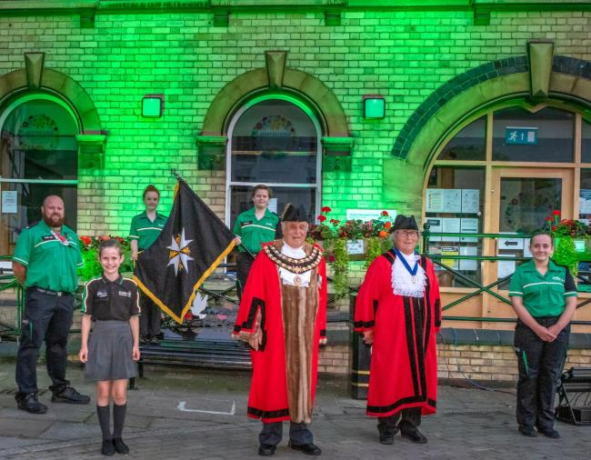 Leominster goes green for St John's Ambulance. Photo: Andy Taylor