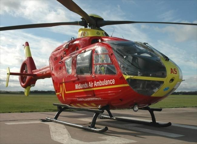 The Midlands Air Ambulance was called to Hereford