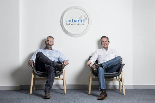 TECHNOLOGY: Ian Robinson and Steve Holford have joined Airband. Pic. Leo Francis