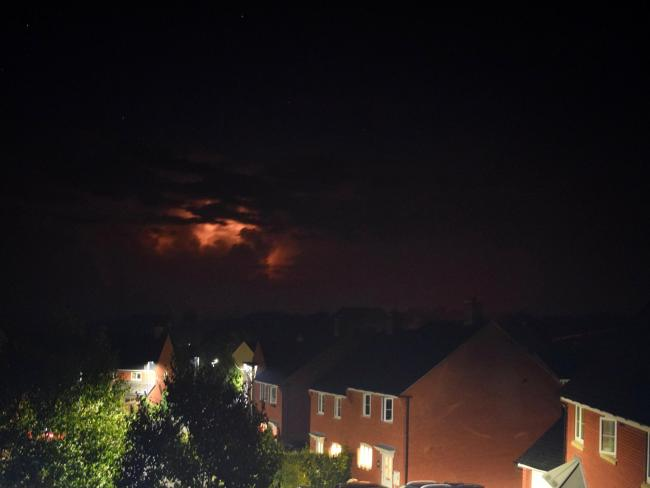 Lightning in Kington last night